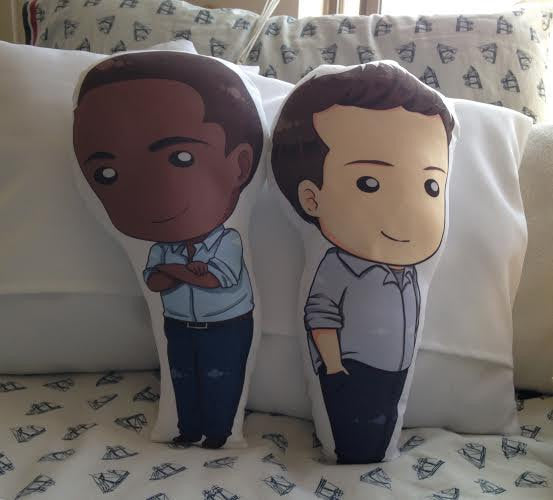 Shaun Spencer & Burton Guster Figure Fanpillow Set 14