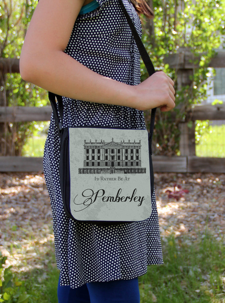 Rather Be at Pemberley Messenger Bag
