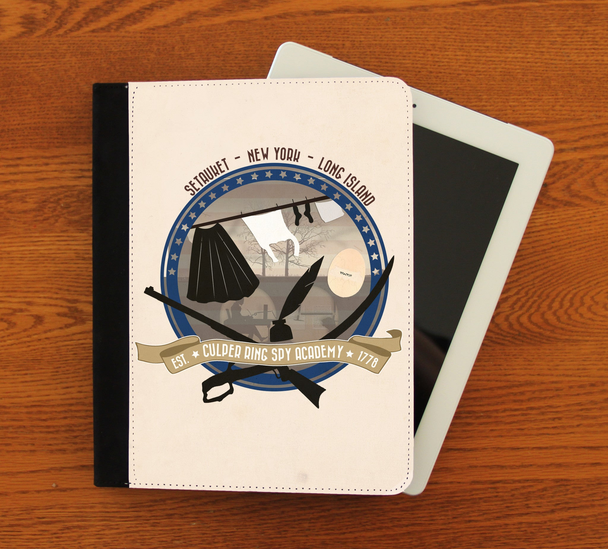 Culper Spy Academy iPad 2,3,4, iPad Mini, Canvas and Suede Protection Case - Consulting Fangeeks - 1