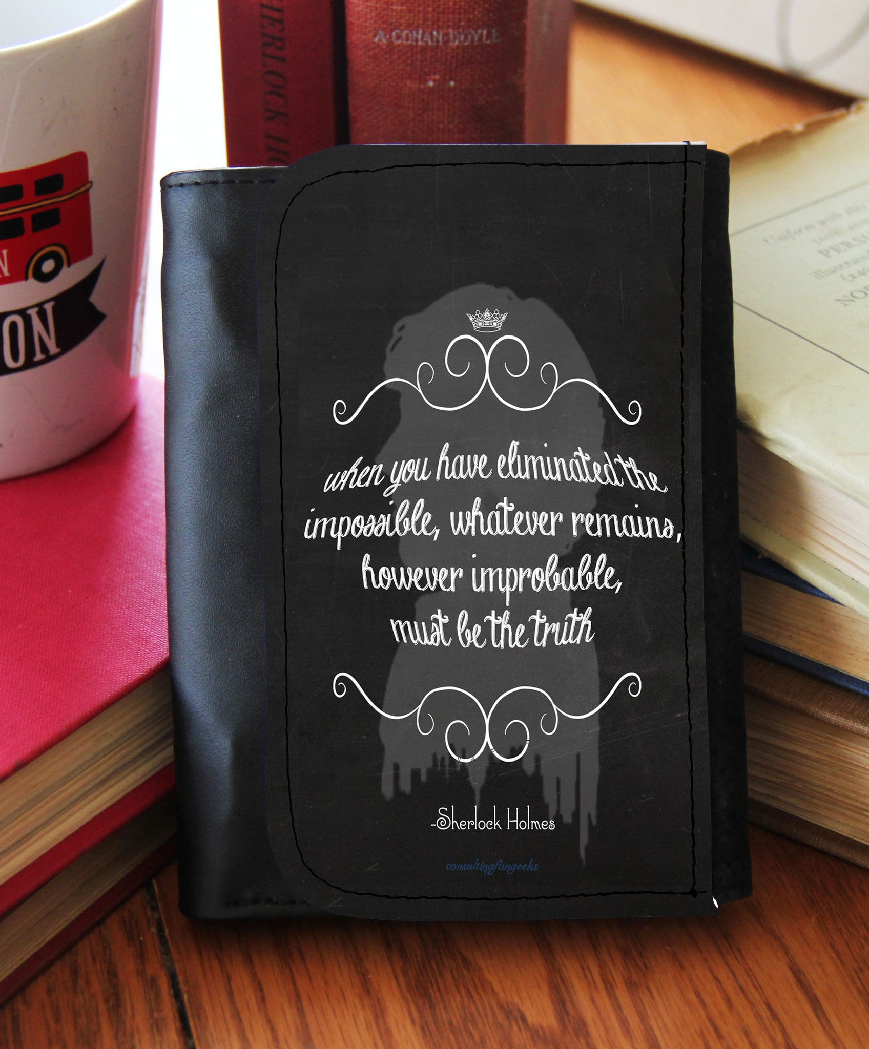 """The Impossible"" Chalk Board Wallet - Consulting Fangeeks - 1"