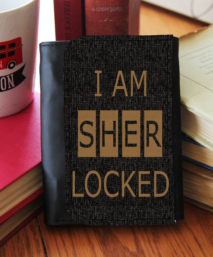 """I Am Sherlocked"" Tweed  Wallet"