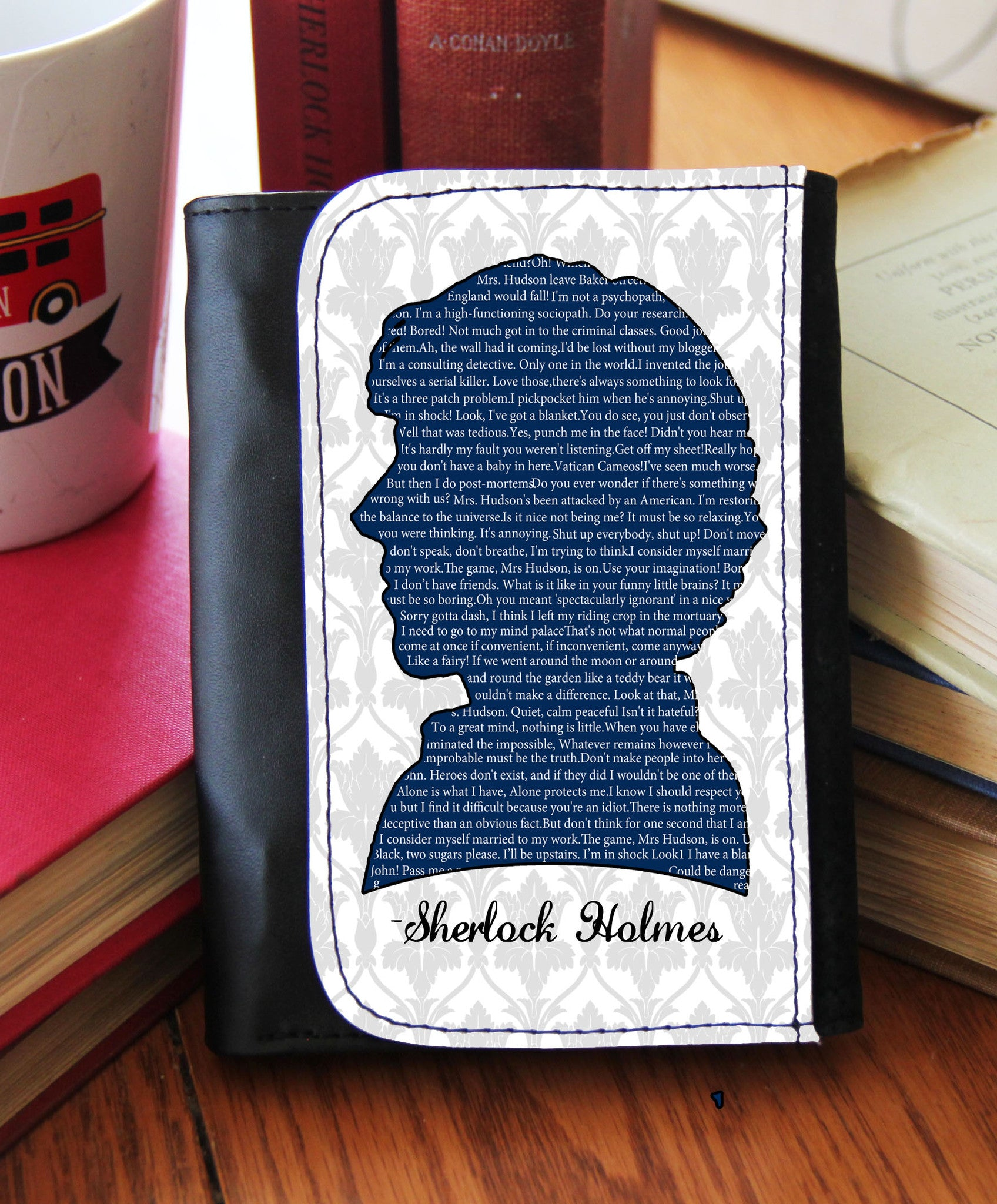 """Sherlock Quotes""  Wallet - Consulting Fangeeks - 1"