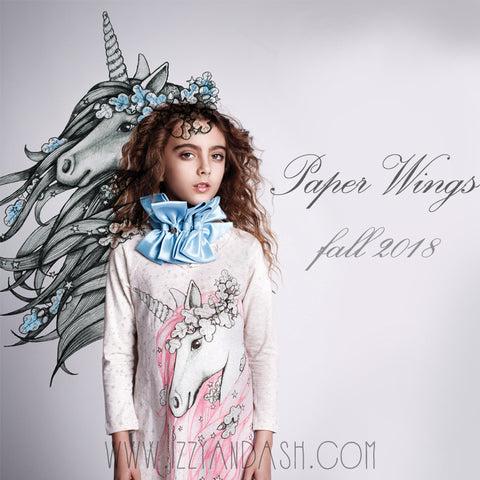 Paper Wings Fall 2018|Tween Clothing|Trendy Children's Brands|Fashionable Kids Brands|Toddler Fashion|Designer Children's Clothing Boutique|Unicorn Dresses
