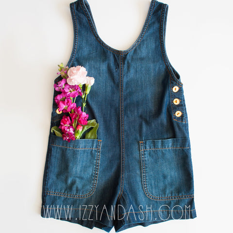 Anthem of the Ants|Anthem of the Ants Spring 2018|Izzy and Ash|Denim Overalls|Girls Overalls|Children Denim Rompers|Tween Rompers|Toddler Girls Rompers|Toddler Rompers|Kids Denim Rompers|Kids Rompers|Designer Children's Clothing