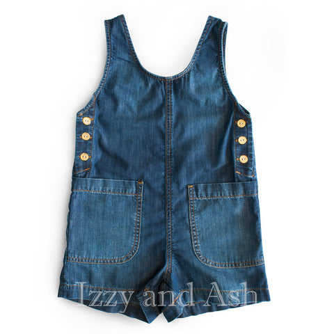 Anthem of the Ants Girls Denim Overalls|Anthem of the Ants|Anthem of the Ants Spring 2017|Girls Overalls|Girls Denim Overalls|Children Overalls|Tween Overalls|Toddler Overalls|Designer Children's Clothes|Trendy Kids Clothes|Toddler Denim Shorts|Children Denim Shorts|Tween Tween Shorts