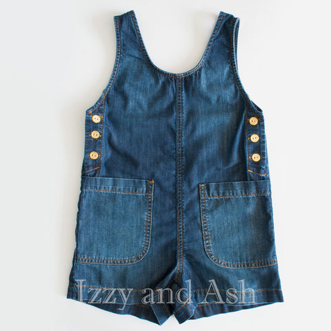 Anthem of the Ants Girls Denim Overall|Anthem of the Ants|Anthem of the Ants Spring 2017|Girls Denim Overalls|Tween Denim Overalls|Toddler Girls Overalls|Toddler Overalls|Tween Overalls|Denim Overalls|Denim Rompers|Denim Romper|Toddler Rompers|Girls Rompers