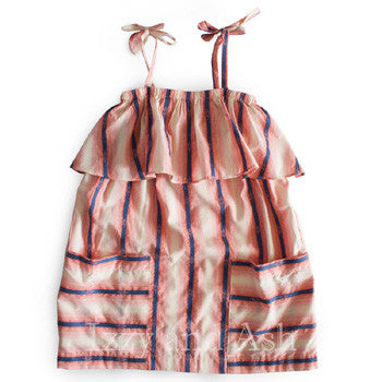 Anthem of the Ants|Anthem of the Ants Spring 2017|Girls Dresses|Girls Stripe Ruffle Dress|Designer Girls Dresses|Toddler Girls Dresses|Pink Stripe Dress|Stripe Ruffle Dress|Toddler Stripe Dress|Toddler Ruffle Dress