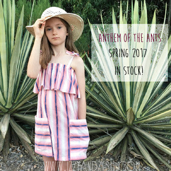Anthem of the Ants Spring 2017|Anthem of the Ants|Anthem of the Ants Dresses|Denim Fringe Dress|Girls Dresses|Girls Fringe Shorts|Toddler Dresses|Tween Dresses|Designer Children's Clothing