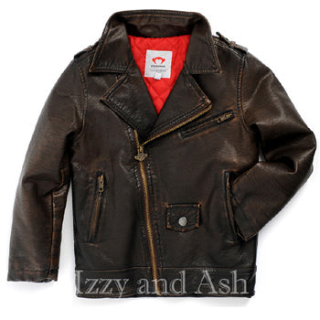 Appaman Boys Chocolate Moto Jacket|Appaman Boys Jacket|Appaman Outerwear|Toddler Boys Outerwear|Toddler Jackets