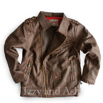Appaman Boys Chocolate Moto Jacket|Appaman|Appaman Fall 2016|Boys Motorcycle Jacket|Toddler Boys Motorcycle Jacket|Designer Boys Outerwear