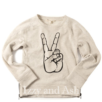 Appaman Gender Neutral Peace Sweater|Appaman|Appaman Fall 2017|Children Unisex Sweaters|Kids Unisex Sweaters|Girls Peace Sign Sweater|Boys Peace Sign Sweater|Children Fall Sweaters|Kids Fall Sweaters