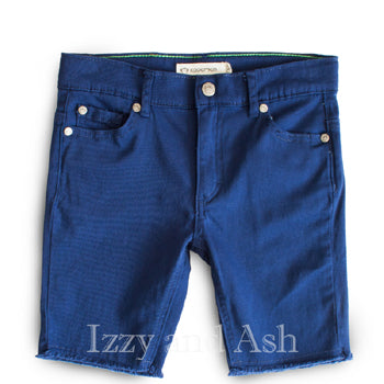 Appaman Boys Blue Cut Off Shorts|Appaman Boys Shorts|Blue Cut Off Shorts|Boys Cut Off Shorts