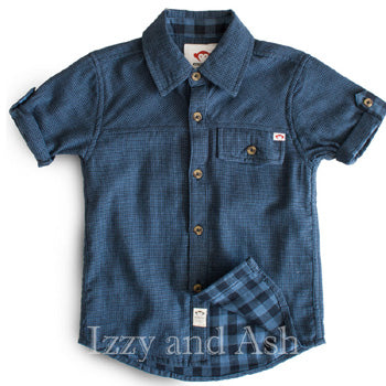 Appaman Boys Navy Plaid Harvey Shirt|Appaman|Appaman Plaid Shirt|Boys Plaid Button Down Shirt