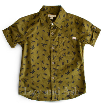 Appaman Boys Bug Button Down Shirt|Appaman Boys T-Shirt|Appaman|Boys Button Down Shirt