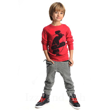 Appaman Boys Skater Penguin Shirt|Appaman Graphic Tees|Boys Graphic Tees|Designer Boys Shirt|Boys Long Sleeve Graphic Tee