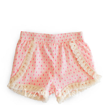 Egg Girls Pink Tassel Shorts|Egg Shorts|Egg Girls Clothing|Egg Children's Clothes|Tween Shorts|Girls Pink Shorts|Toddler Shorts|Children's Designer Clothing