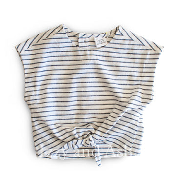 Egg Girls Stripe Tie Bottom Top|Egg|Egg Spring 2016|Girls Crop Top|Tween Top|Girls Stripe Top|Trendy Girls Tops
