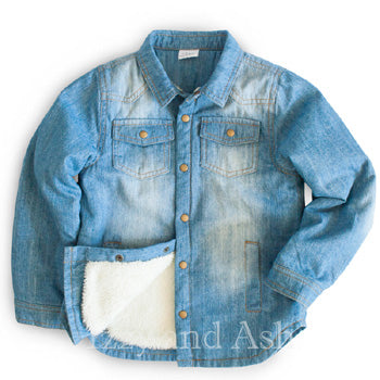 Egg|Egg Baby|Egg by Susan Lazar|Egg Fall 2017|Egg Boys Denim Sherpa Lined Jacket|Boys Sherpa Jacket|Toddler Boys Jackets|Toddler Clothing|Toddler Boys Outerwear|Toddler Outerwear|Boys Outerwear|Boys Jean Jacket|Toddler Denim Jacket