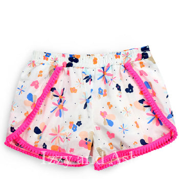 Egg Girls Floral Valerie Short|Egg Baby|Egg Children's Clothes|Flower Shorts|Girls Bottoms|Toddler Girls Shorts|Tween Shorts|Children's Shorts|Children's Summer Shorts|Designer Children's Clothing|Designer Toddler Clothing