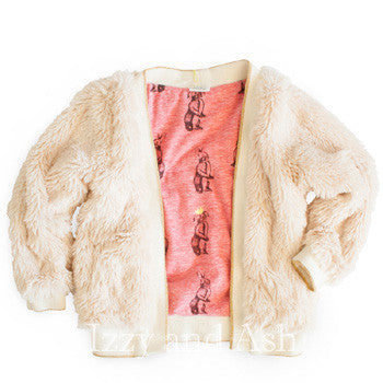 Egg Girls Julia Shaggy Jacket|Egg Fall 2017|Egg Baby|Egg by Susan Lazar|Izzy and Ash|Girls Outerwear|Girls Jackets|Children Outerwear|Children's Clothing|Toddler Girls Outerwear|Kids Coats|Kids Jackets|Designer Children's Clothing|Cute Children's Clothes|Trendy Kids Clothes