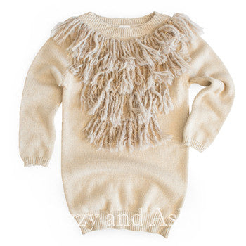 Egg Girls Fringe Amber Dress|Egg|Egg Fall 2017|Girls Fringe Dress|Girls Holiday Dress| Girls Gold Dress|Toddler Holiday Dress|Girls Sweater Dress|Children Sweater Dresses|Sweater Dresses|Gold Sweater Dresses|Fringe Sweater Dresses|Fall Dresses|Fall Dress|Winter Dresses|Winter Dress|Girls Dresses