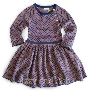 Egg Girls Chevron Dress|Egg|Egg Baby|Egg by Susan Lazar|Purple Dress|Girls Dresses|Missoni Kids|Designer Children's Clothing|Designer Girls Dresses|Tween Dresses|Tween|Toddler Girls Dresses