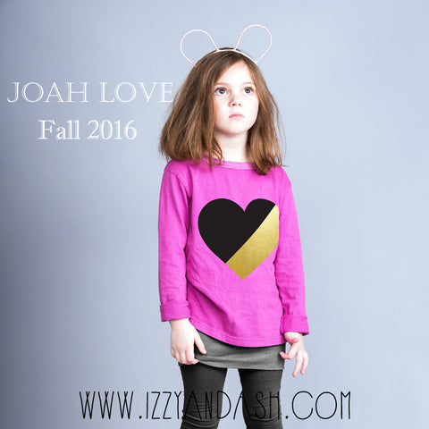 Joah Love|Joah Love Fall 2016|Joah Love Heart Shirt|Joah Love Boys Clothes