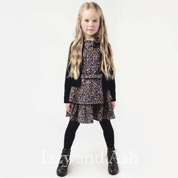 Imoga Girls Pamela Ruffle Dress|Imoga|Imoga Fall 2016|Imoga Dress|Girls Dresses|Girls Print Dress
