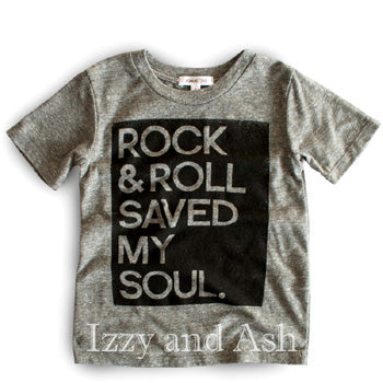 Joah Love Gender Neutral Rock and Roll Saved My Soul T-Shirt