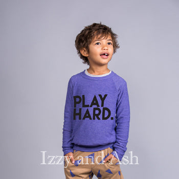 Joah Love Gender Neutral Play Hard Sweater|Gender Neutral|Unisex|Kid's Unisex Clothes|Gender Neutral Children's Clothing|Play Hard Sweater|Joah Love