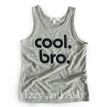 Joah Love|Joah Love Fall 2017|Joah Love Cool Bro|Cool Bro Shirt|Cool Bro Tank|Joah Love Clothing|Cool Bro T-Shirt|T-shirt|Boys T-shirts|Designer Children's Clothing|Kids Clothing|Kids Clothes|Boys Tank Tops|Boys Tanks|Toddler Tanks|Toddler Boys Tanks