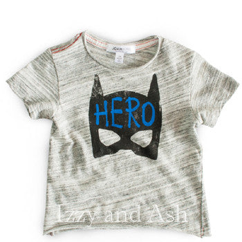 Joah Love|Joah Love Spring 2017|Joah Love Boys Stripe Hero Shirt|Hero Shirt|Superhero Shirt|Boys T-Shirts|Boys Graphic Tees|Boys Graphic T-Shirts|Hero T-Shirt|Joah Love Hero|Joah Love Hero Shirt|Boys Summer Shirts|Mask Shirt|Mask T-Shirt|Black Mask Shirt|Short Sleeve T-Shirts|Gray T-Shirts|Grey T-Shirts