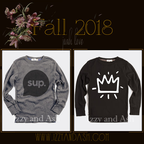 Joah Love Fall 2018|Joah Love|Joah Love Fall 2018 Preorders|Joah Love Clothing|Sup T-Shirt|Sup Shirt|Boys T-Shirts|Gender Neutral Shirts|Unisex Kids Shirts|Gender Neutral Children's Clothing|Boys Activewear|Boys Yoga Clothes|Children Yoga Clothes|Boys Gym Clothes