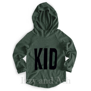 Joah Love|Joah Love Fall 2017|Joah Love Kid Hoodie|Designer Children's Clothing|Gender Neutral|Unisex|Gender Neutral Children's Clothes|Unisex Kids Clothes|Unisex Children's Clothes|Green Hoodie|Army Green Hoodie|