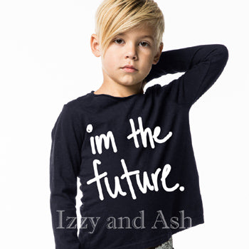 Joah Love Gender Neutral Im The Future Top|Joah Love|Joah Love Fall 2017|Joah Love Clothing|Im The Future Shirt|Gender Neutral Kids Clothes|Unisex Children Clothes|Unisex Kids Clothes|Gender Neutral Children's Clothes|Boys T-Shirts|Girls T-Shirts|Toddler T-Shirts
