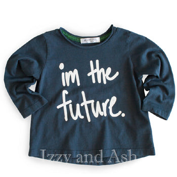 Joah Love Gender Neutral Im The Future Top|Joah Love|Joah Love Fall 2017|Joah Love Clothing|Joah Love Clothes|Gender Neutral Children's Clothes|Unisex Children's Clothes|Unisex Kids Clothes|Unisex Children T-Shirts|Gender Neutral Kids Clothes|Unisex Kids T-Shirts