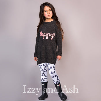 Joah Love Girls Happy Tunic Sweater|Joah Love Fall 2016|Joah Love Happy Sweater|Happy Sweater|Joah Love|Joah Love Clothing|Designer Children's Clothing|Designer Kid's Clothes
