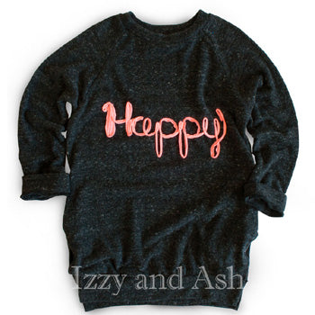 Joah Love Girls Happy Tunic Sweater|Joah Love|Joah Love Fall 2016|Happy Sweater|Girls|Tween|Girls Designer Sweaters|Toddler Sweaters|Designer Toddler Clothing|Designer Tween Clothing