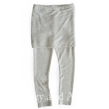 Joah Love|Joah Love Fall 2017|Joah Love Girls Grey Fold Over Legging|Joah Love Leggings|Toddler Leggings|Tween Leggings|Designer Children's Clothes|Toddler Fashion|Tween Fashion|Grey Leggings|Gray Leggings|Children Tights|Winter Leggings|Skirt Leggings