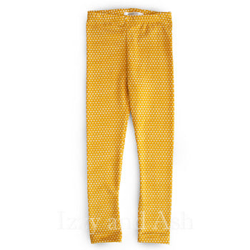 Joah Love Girls Mustard Polka Dot Legging|Joah Love|Joah Love Fall 2016|Girls Leggings|Mustard Leggings|Girls Polka Dot Leggings|Tween Leggings