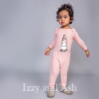 Joah Love Infant Girls Au Lait No Snap Onesie|Joah Love|Joah Love Fall 2016|No Snap Onesie|Designer Baby Clothes