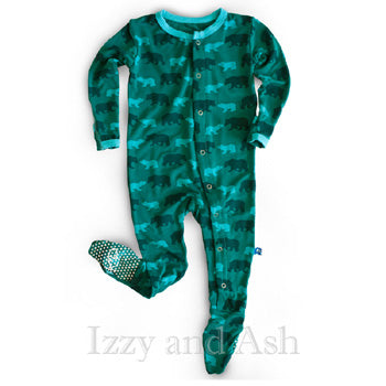 Kickee Pants|Kickee Pants Fall 2016|Kickee Pants Bear Footie|Kickee Pants Bear Onesie|Boys Bear Onesie|Unique Baby Clothes