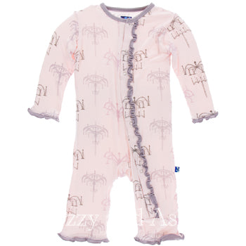 Kickee Pants Fall 2017|Kickee Pants|Kickee Pants Coveralls|Kickee Pants Infant Girls Macaroon Chandelier Coverall|Kickee Pants Spring 2018|Unique Baby Clothes|Cute Baby Clothes|Designer Children's Clothes|Girls Layettes|Baby Layettes