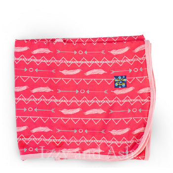 Kickee Pants Infant Girls Prickly Pear Southwest Print Swaddle Blanket|Kickee Pants|Kickee Pants Spring 2017|Kickee Pants Southwest Swaddle Blanket|Kickee Pants Prickly Pear Swaddle Blanket|Swaddle Blanket|Stroller Blanket|Swaddle|Bamboo Blanket|Bamboo Swaddle Blanket|Pink Bamboo Blanket|Feather Print Swaddle Blanket|Arrow Print Swaddle Blanket|Arrow Blanket|Pink Arrow Blanket