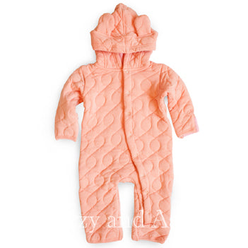 Kickee Pants Infant Girls Blush Quilted Romper|Kickee Pants|Kickee|Baby Clothing|Designer Baby Cothes|Unique Baby Clothes|Infant Clothes|Baby Girls Clothes|Designer Infant Clothing|Onesies|Pink Onesies|Quilted Onesies|Quilted Rompers