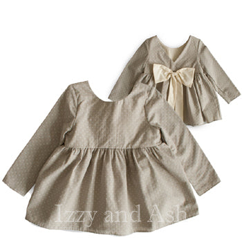 Mary Helen Girls Grey Tie Back Top|Mary Helen|Mary Helen Bow Top|Bow Top|Children's Bow Blouse|Grey Blouse