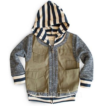 Miki Miette Boys Cargo Jacket|Miki Miette|Miki Miette Fall 2016|Miki Miette Boys Clothing|Boys Cargo Jacket|Designer Boys Jackets|Miki Miette Jacket|Toddler Boys Clothing|Infant Boys Clothes|Baby Boy Clothes