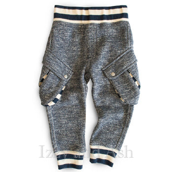 Miki Miette Boys Tweed Vedder Cargo Sweatpants|Miki Miette|Boys Cargo Pants|Toddler Boys Cargo Pants|Boys Activewear|Children's Activewear