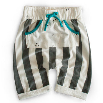 Miki Miette Boys Stripe Cole Short|Miki Miette|Miki Miette Spring 2017|Boys Shorts|Stripe Shorts|Boys Harem Shorts|Toddler Boys Shorts|Toddler Shorts|Baby Clothing|Baby Boys Clothes|Baby Boys Bottoms|Boys Harem Pants|Stripe Pants|Children Stripe Pants|Trendy Toddler Clothing|Trendy Baby Clothing