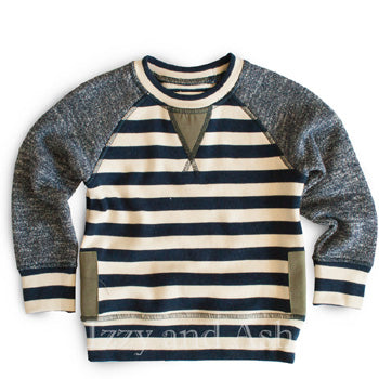 Miki Miette Boys Stripe Iggy Top|Miki Miette|Miki Miette Fall 2016|Designer Toddler Boys Clothes|Designer Infant Boys Clothing|Boys Clothing|Baby Boys Clothing|Infant Boys Clothes|Toddler Sweaters
